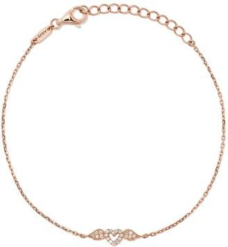 As 29 18kt rose gold Miami Winged Heart diamond bracelet