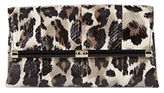 Diane von Furstenberg Leopard Leather Envelope Clutch