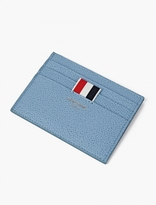 Thom Browne Blue Pebblegrain Leather Cardholder