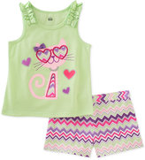 Kids Headquarters 2-Pc. Graphic-Print Tank Top & Shorts Set, Toddler Girls (2T-5T)