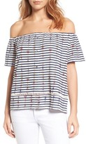Lucky Brand Women's Off The Shoulder Stripe Top