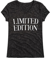 Black Limited Edition Instant Message Women's Women's Tee Shirts BLACK - Heather Black 'Limited Edition' V-Neck Tee - Women