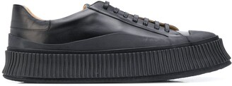 Jil Sander Leather Lace-Up Sneakers