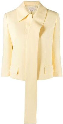 Alexander McQueen Cropped Single-Breasted Jacket
