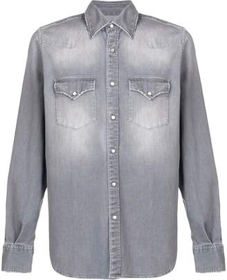 Eleventy stonewashed denim shirt