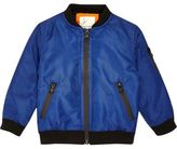 River Island Mini boys blue padded bomber jacket