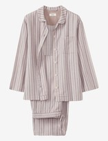 Toast Stripe Brushed Flannel Pj