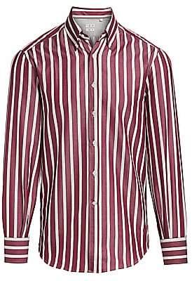 Brunello Cucinelli Men's Broad Stripe Button-Down Shirt