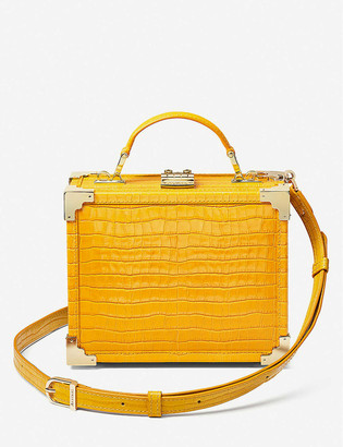 Aspinal of London Trunk leather clutch bag