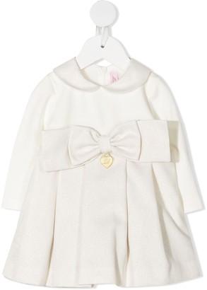 Miss Blumarine Bow-Embellished Cotton Dress