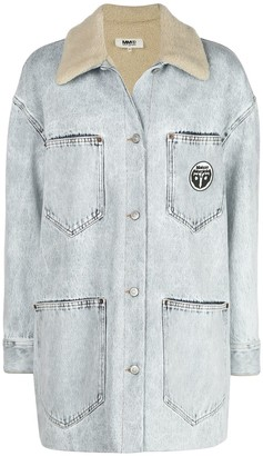 MM6 MAISON MARGIELA Oversized Washed Denim Jacket