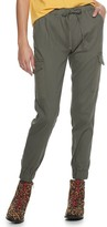 Almost Famous Juniors' Twill Pull-On Cargo Jogger
