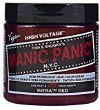 Manic Panic Semi-Permament Haircolor Infra Red 4oz Jar (3 Pack)