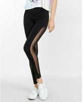 Express High Waisted Mesh Inset Legging