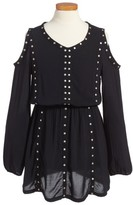 Splendid Girl's Grommet Cold Shoulder Dress