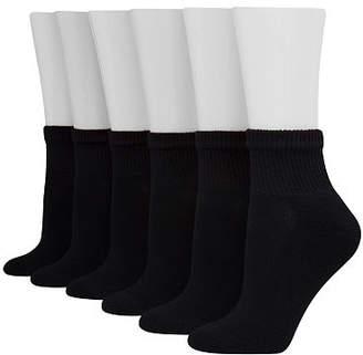 Hanes 6 Pair Quarter Socks Womens