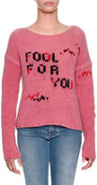 Ermanno Scervino Fool For You Intarsia Long-Sleeve Cashmere Sweater