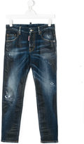 DSQUARED2 stonewashed slim-fit jeans - kids - Cotton/Spandex/Elastane - 14 yrs