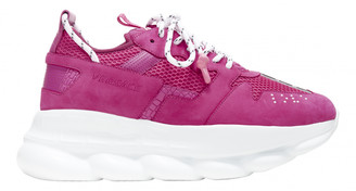 Versace Chain Reaction Pink Suede Trainers