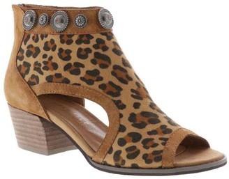 Volatile Women's Casual boots TAN/LEOPARD - Tan Leopard Open-Toe Jewelle Leather Bootie - Women