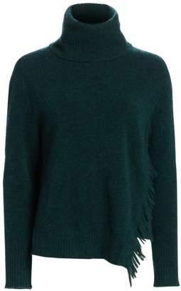 3.1 Phillip Lim Fringed Overlap Alpaca-Blend Turtleneck Sweater