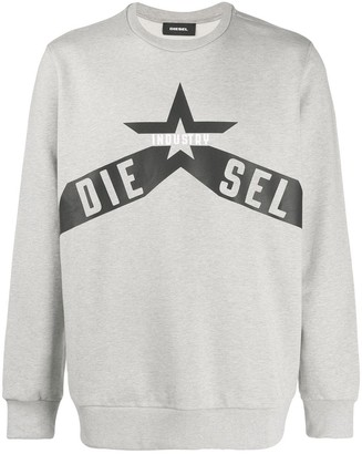 Diesel printed cotton-fleece sweatshirt