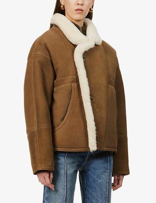 Sandro Sherly oversized suede jacket