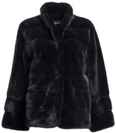 Zandra Rhodes For The Fur Salon Mink Stand Collar Coat