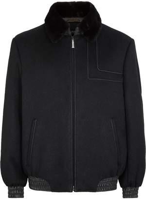 Zilli Mink Collar Cashmere Jacket