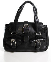 Cole Haan Black Leather Satchel Handbag Size Small