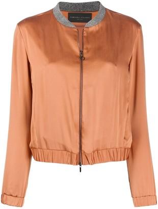 Fabiana Filippi Silk Bomber Jacket