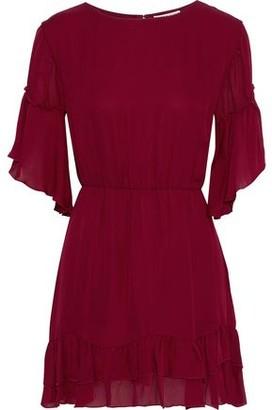 Alice + Olivia Katrina Tiered Silk-voile Mini Dress