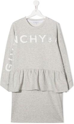 Givenchy Kids Peplum-Waist Sweatshirt Dress