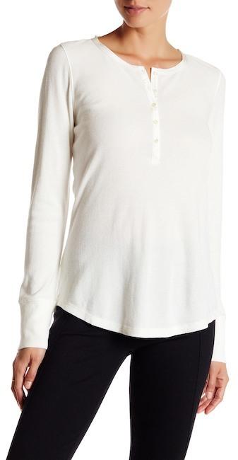 Lands' End Canvas Henley Knit Shirt