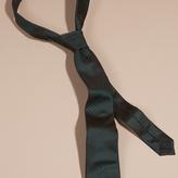 Burberry Modern Cut Check Silk Tie, Green