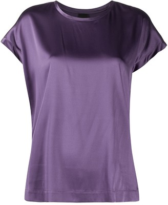 Pinko plain silk T-shirt