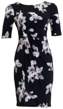 Connected Plus Size Floral Sheath Dress