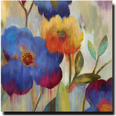 Ikat Florals I Gallery-Wrapped Canvas