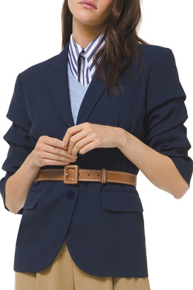 Michael Kors Collection Crushed-Sleeve Fitted Blazer