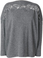 Ermanno Scervino lace trim sweater - women - Cashmere/Wool - 40