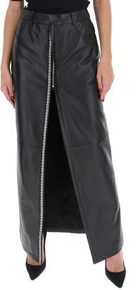Saint Laurent Embellished Slit Maxi Skirt