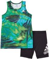 adidas Run With Me Tunic Set (Toddler) - Green Print - 2T