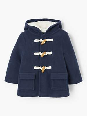 John Lewis & Partners Baby Duffle Coat, Navy