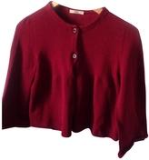 Prada Burgundy Cotton Knitwear