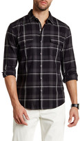 Lands' End Yarn-Dyed Plaid Long Sleeve Regular Fit Shirt
