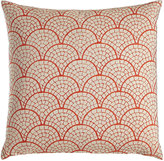"""John Robshaw Laal Pillow with Coral Scallop Print, 20""""Sq."""