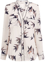"""Oasis BIRD PIPED SHIRT [span class=""""variation_color_heading""""]- Multi Natural[/span]"""