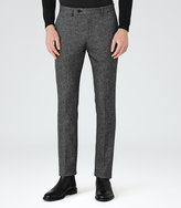 Reiss Reiss Connor - Nep Tailored Trousers In Grey