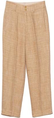 Forte Forte Linen Cotton Herringbone Pants in Zafferano