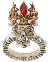 Alexander McQueen Anello Queen Skull